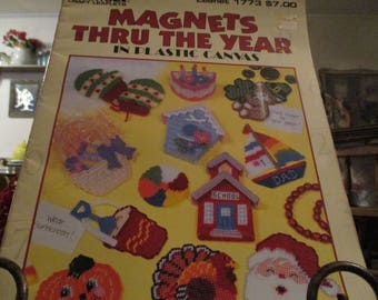 """Plastic Canvas Magnets """"Through The Year"""""""