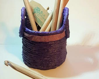 Wooden crochet needle. Wood Crochet Hook