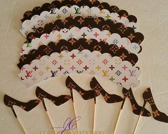 Designer Cupcake wrapper and cupcake topper package