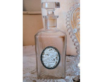 RARE ANTIQUE 1900 French Perfume Bottle Gorgeous Label