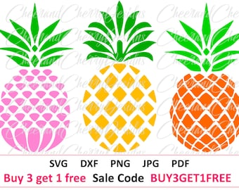 Pineapple SVG Pineapple Clipart Pineapple Vector Pineapple cut file Pineapple HTV Pineapple dxf Summer SVG Cut Files for Cricut Silhouette