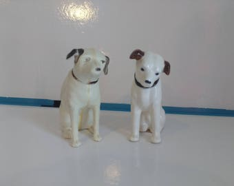 Vintage RCA Victor Dog Nipper Plastic and Ceramic Salts Made in Japan Figures