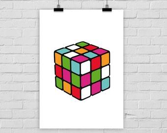 fine-art print poster RUBIK'S CUBE