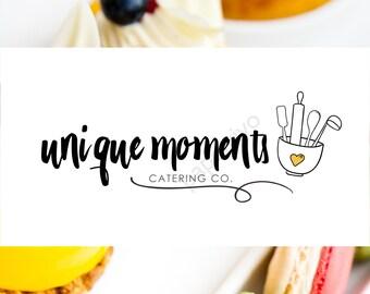 Premade logo design / Branding package / Cooking logo / Food logo / Bakery logo / Restaurant logo / Catering logo design - CK10