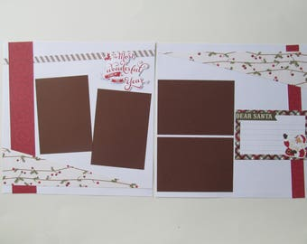 Dear Santa Premade or  DIY Kit,12x12 Scrapbook Layout,  Scrapbook Page Kit