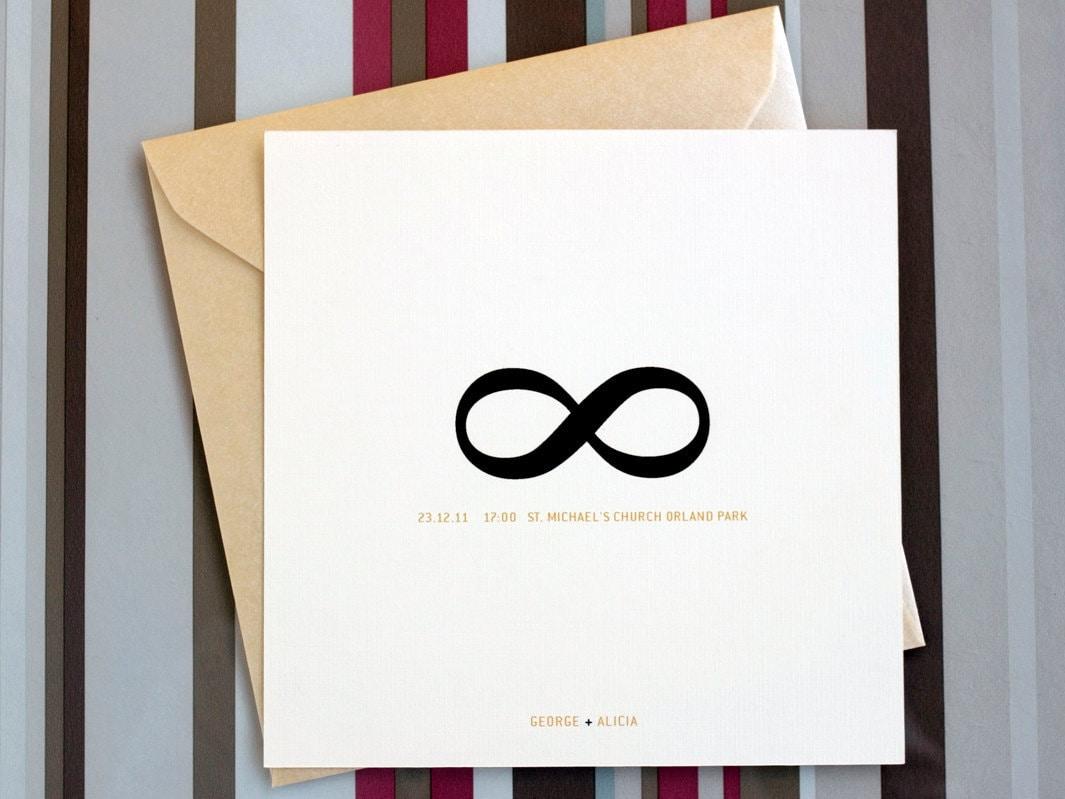 minimalist wedding invitation set Infinity symbol