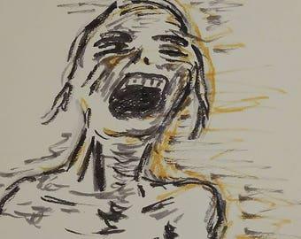 La Llorena -- Watercolor Zombie