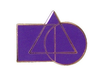 "Cryptic Council Purple Lapel Pin - 1"" Wide - TME-JWL-L-00042"