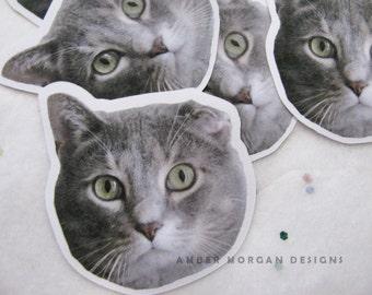 Des autocollants personnalisés pour animaux de compagnie, animaux Portrait, papier autocollants, journalisation, autocollant flocons, papeterie, Scrapbooking, Stickers d'animaux, Stickers animaux