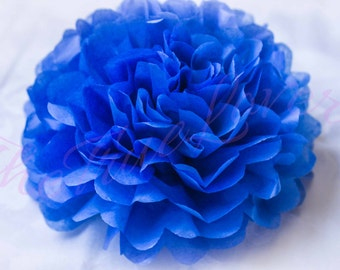 SAPPHIRE BLUE/ 1 tissue paper Pompoms,single pompom,nursery room decoration, baby shower,wedding,birthday,party,engagement,bridal shower,DIY