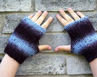 Knit Fingerless Gloves, Knit Gloves, Fingerless Mittens, Knit Racer Gloves, Texting Gloves, Photographers Gloves, Unisex Outerwear