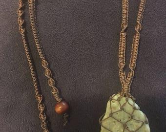 Sale Shell Fragment Macrame Necklace