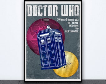 Doctor Who inspired alternative poster, dr who poster, tardis, dr who art, doctor who print, dr who gift, tardis print, tardis poster