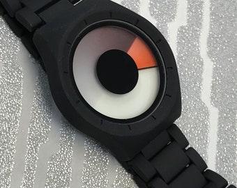 Modern Orange Eclipse Watch By Softech London