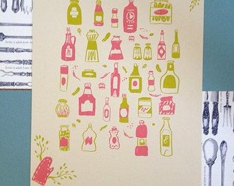 Kitchen Items Screen Print CLEARANCE