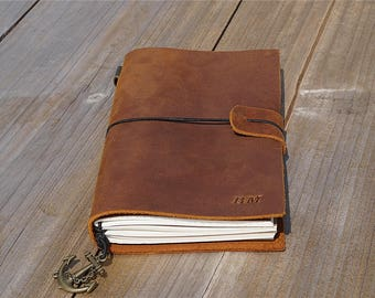 Mens gift Boyfriend gift groomsmen gifts Father's day Leather journal Birthday gift Anniversary gift mens personalized gift for father