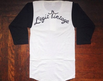 legit vintage X russell athletic baseball tee men's size small