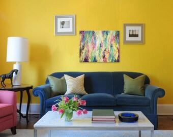 Original Abstract Painting, Acrylic 16x20 Canvas, Modern Wall Art, RAINBOW RAIN