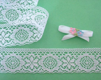 French white 2 m 30 embroidery lace
