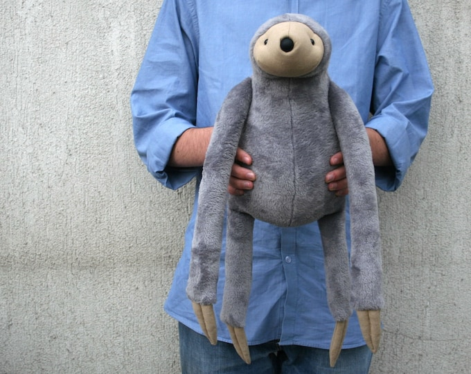 Grey Big Sloth, stuffed animal toy for children