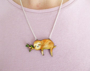 Sleeping Sloth Necklace