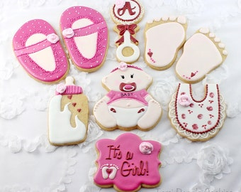 Baby Decorated Cookies, Baby Shower, Baby Cookies, Baby Shower Favors, Party Favors, New Mommy Gift, Decorated Cookies, Sugar Cookies