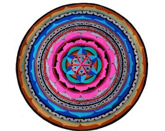 Abundance Gratitude and Love Mandala 10 x 10 glossy archival print Salo Stanley Artist
