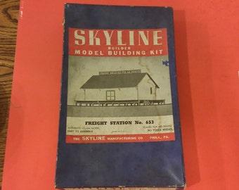 Skyline Model Building Kit, Freight Station # 653