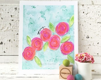 Spring Mixed Media Art Print - 2 sizes available