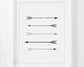 Arrow Wall Decor, Arrow Art, Arrow Decor, Arrow Nursery Decor, Printable Nursery Art, Arrow Print, Arrow Room Decor, Rustic Home Decor, Boho