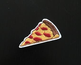 Pizza Iron on Patch, Embroidered Sew on Patch, Embroidered Patch, Cool & Trendy Patch, Pizza Patch, Pizza Clothing Sticker, Pizza Clothing