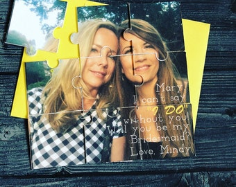 Bridesmaid Proposal Puzzle, Custom Photo Puzzle for Bridal party