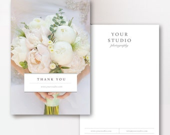 Photographer Thank You Card Templates - Photo Marketing - Wedding Photographer Templates - Photoshop Templates