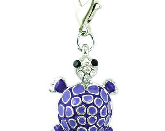 Purple turtle Charms pendant