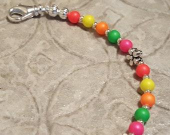 MEDIUM Swarovski pearl multicolor medical alert bracelet size 6 inches