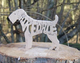Airedale dog ornament, Airedale puzzle, gift for Airedale lovers, gift for dog lovers, dog memorial