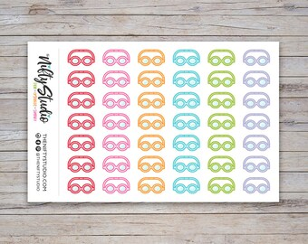 Swim Goggles Stickers | Triathlon | Planner Stickers | The Nifty Studio [176]