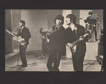 Vintage 1964 The Beatles Post Card Rare Find See Pic