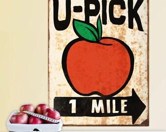 U-Pick Apples Farm Stand Wall Decal - #71343