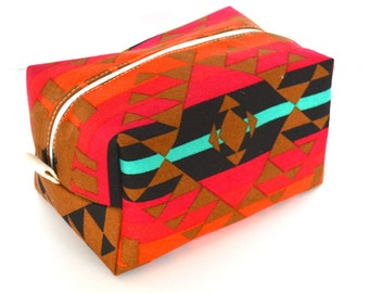 Aztec Makeup Bag - Cosmetic Pouch -  Lunch Bag - Wet Bag -Waterproof Bag