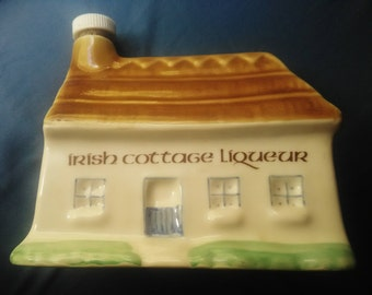 Irish Cottage Liqueur collectible container  (Empty)