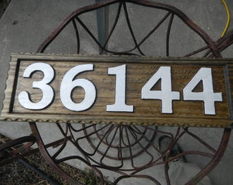 Address Numbers, Street Numbers, Identification Signs, Custom Carved, Decorative, Custom Designed, Reflective, Weather Resistant,