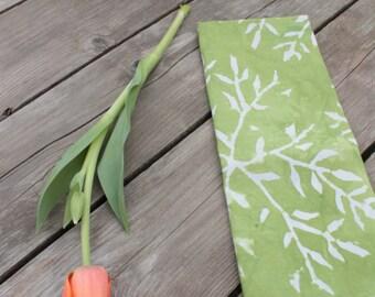 brightest green linen towel