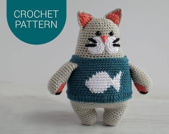 Amigurumi Crochet Pattern | Oscar Cat | Crochet Cat | PDF