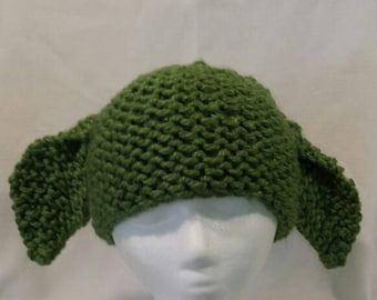 Hand made knitted Kid's Green Hat