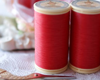 Red color Gloving Thread-Fil Au Chinois-Waxed Cotton Thread- Sajou