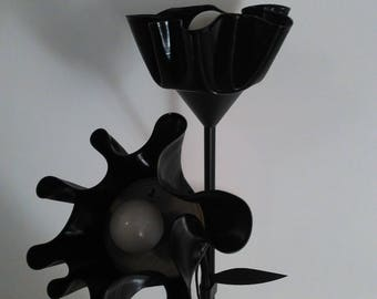 Black Rose Vinyl Floor Lamp with reading light