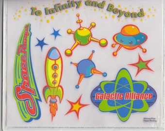 Toy Story Rub-on Instant Stencils For Walls To Infinity and Beyond Outer Space Theme