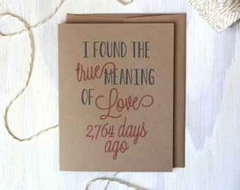 Days of True Love Rustic Kraft Greeting Card | Valentine's Day Card | Anniversary Card | Stationery | Stationary | Valentine | Husband Card