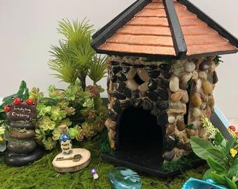 Outdoor Stone Fairy House or Bird House for Garden